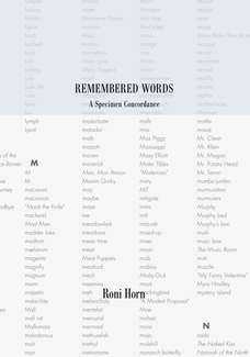 Remembered Words, A Specimen Concordance